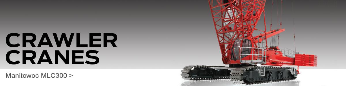 Shop Diecast crawler crane scale model replicas including the Manitowoc MLC300!