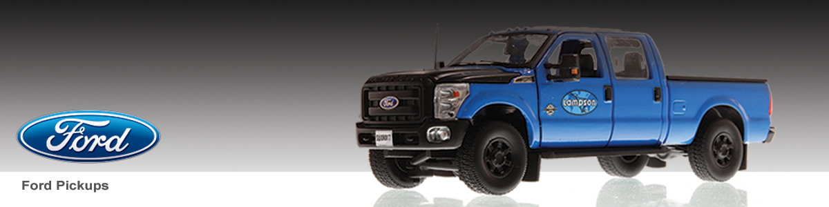 Shop the full line of diecast Ford Pickups scale models including the Lampson livery.