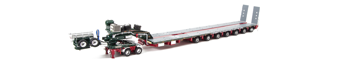 1:50 scale diecast model of Drake 2x8 Dolly and 7x8 Steerable Low Loader Trailer in Membrey Livery